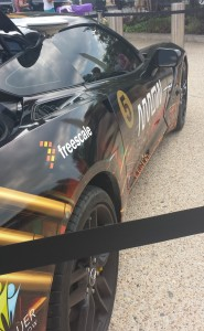 Black Corvette with Freescale and Arrow painted on the side